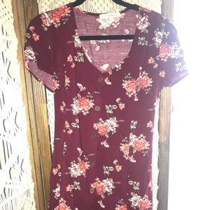 90's Style Floral Button Down Dress